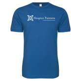 Next Level SoftStyle Royal T Shirt-Hospice Partners - Tagline