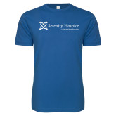 Next Level SoftStyle Royal T Shirt-Serenity Hospice - Tagline