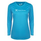 Ladies Syntrel Performance Light Blue Longsleeve Shirt-Hospice Partners of America