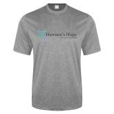 Performance Grey Heather Contender Tee-Harrisons Hope - Tagline