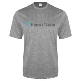 Performance Grey Heather Contender Tee-Hospice of Virginia - Tagline