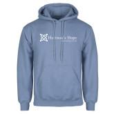 Light Blue Fleece Hoodie-Harrisons Hope - Tagline