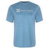 Performance Light Blue Tee-Hospice Partners - Tagline