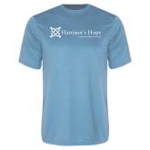 Performance Light Blue Tee-Harrisons Hope - Tagline