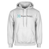 White Fleece Hoodie-Hospice Partners of America