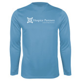 Performance Light Blue Longsleeve Shirt-Hospice Partners - Tagline