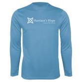 Performance Light Blue Longsleeve Shirt-Harrisons Hope - Tagline
