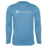 Performance Light Blue Longsleeve Shirt-Serenity Hospice - Tagline