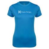Ladies Syntrel Performance Light Blue Tee-Hospice Partners of America