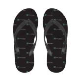 Ladies Full Color Flip Flops-Serenity Hospice - Tagline