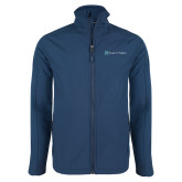 Navy Softshell Jacket-Hospice of Virgina
