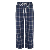Navy/White Flannel Pajama Pant-Hospice Partners