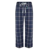Navy/White Flannel Pajama Pant-Alamo Hospice