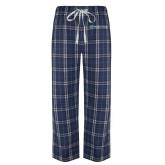 Navy/White Flannel Pajama Pant-Harrisons Hope