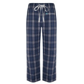 Navy/White Flannel Pajama Pant-Hospice of Virgina