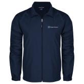 Full Zip Navy Wind Jacket-Hospice Partners