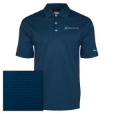 Nike Dri Fit Navy Pebble Texture Sport Shirt-Hospice Partners