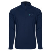 Sport Wick Stretch Navy 1/2 Zip Pullover-Hospice Partners