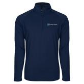 Sport Wick Stretch Navy 1/2 Zip Pullover-Serenity Hospice