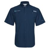 Columbia Tamiami Performance Navy Short Sleeve Shirt-Alamo Hospice