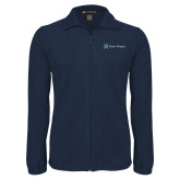 Fleece Full Zip Navy Jacket-Alamo Hospice