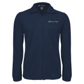Fleece Full Zip Navy Jacket-Hospice of Virgina