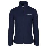 Columbia Ladies Full Zip Navy Fleece Jacket-Hospice Partners