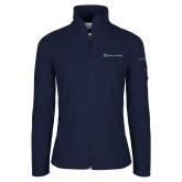 Columbia Ladies Full Zip Navy Fleece Jacket-Hospice of Virgina