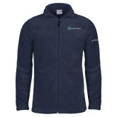 Columbia Full Zip Navy Fleece Jacket-Alamo Hospice