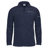 Columbia Full Zip Navy Fleece Jacket-Hospice of Virgina