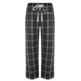 Black/Grey Flannel Pajama Pant-Alamo Hospice