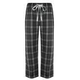 Black/Grey Flannel Pajama Pant-Harrisons Hope
