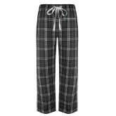 Black/Grey Flannel Pajama Pant-Hospice of Virgina