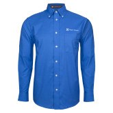 Mens Royal Oxford Long Sleeve Shirt-Hospice Partners