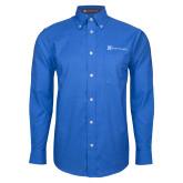 Mens Royal Oxford Long Sleeve Shirt-Alamo Hospice