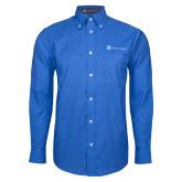 Mens Royal Oxford Long Sleeve Shirt-Serenity Hospice