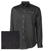 Cutter & Buck Black Nailshead Long Sleeve Shirt-Hospice of Virgina