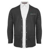 Charcoal V Neck Cardigan w/Pockets-Hospice Partners
