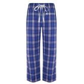 Royal/White Flannel Pajama Pant-Alamo Hospice