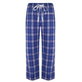 Royal/White Flannel Pajama Pant-Hospice of Virgina