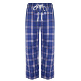 Royal/White Flannel Pajama Pant-Serenity Hospice