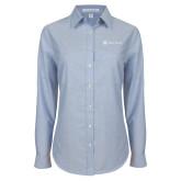 Ladies Light Blue Oxford Shirt-Hospice Partners