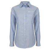 Ladies Light Blue Oxford Shirt-Hospice of Virgina