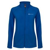 Ladies Fleece Full Zip Royal Jacket-Hospice Partners