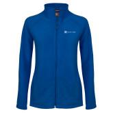 Ladies Fleece Full Zip Royal Jacket-Harrisons Hope