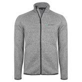 Grey Heather Fleece Jacket-Alamo Hospice