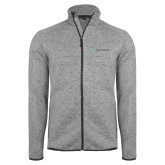 Grey Heather Fleece Jacket-Hospice of Virgina