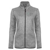 Grey Heather Ladies Fleece Jacket-Alamo Hospice