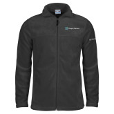 Columbia Full Zip Charcoal Fleece Jacket-Hospice Partners