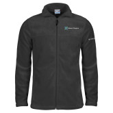 Columbia Full Zip Charcoal Fleece Jacket-Alamo Hospice